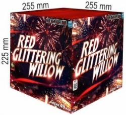 Red glittering willow